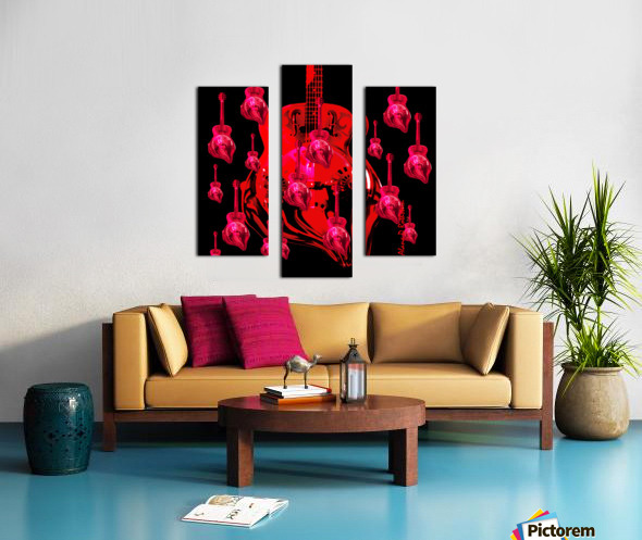 PinkRainBlackVelvet Canvas print