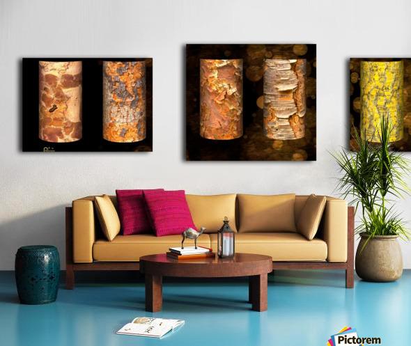 tree bark symphony Canvas print