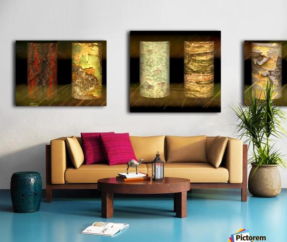 tree bark jungle Canvas print