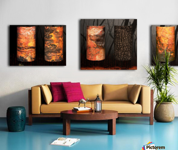 tree bark aBlaze Canvas print