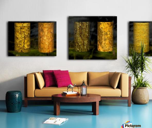tree bark sentinels Canvas print