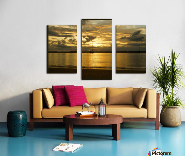 clarence river sunset Canvas print