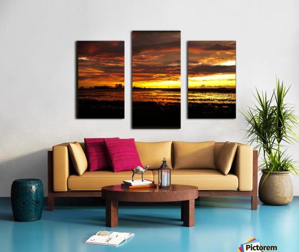 granite belt sunset Canvas print