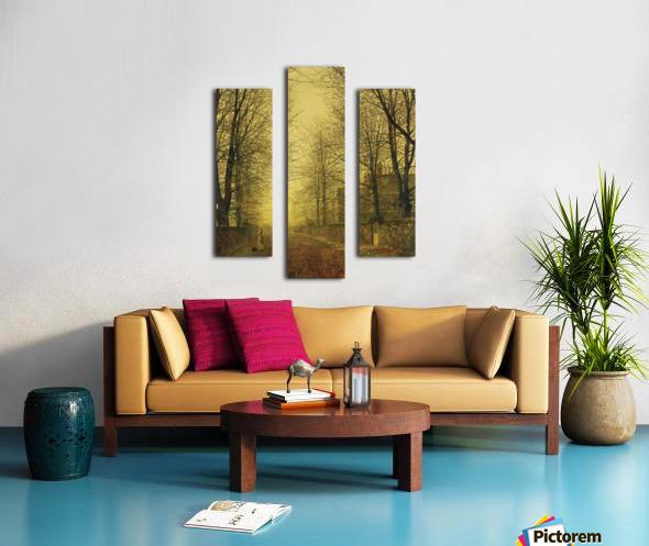 Lady within autumn glow Canvas print
