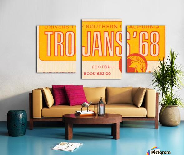 1968 USC Trojans Season Ticket Canvas print