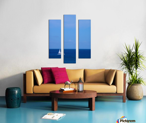 Blue Day - Gallery Artwork of the Year 2017 - Minimalism Canvas print
