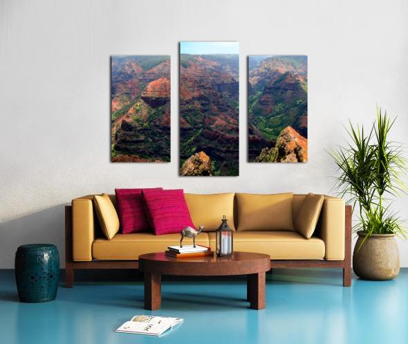 Rugged Kauai Canvas print