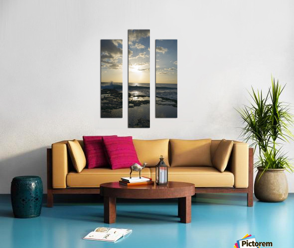 Softly Came the Night Over the Pacific Canvas print