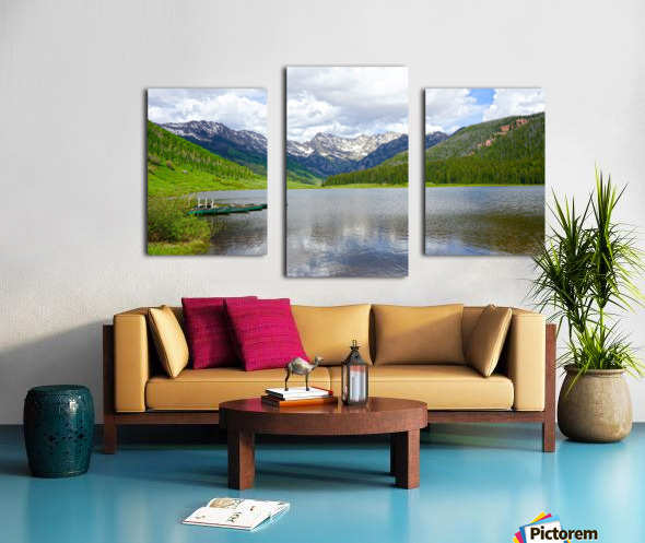 Rocky Mountain Reflections Canvas print