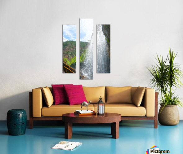 Inside the Waterfall Canvas print
