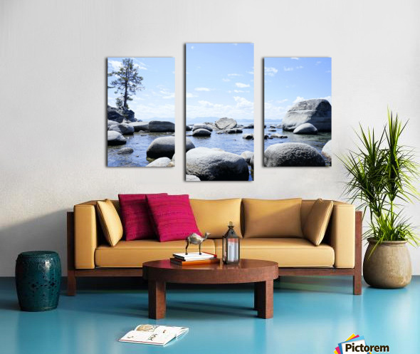 On the Lake - Tahoe California USA Canvas print