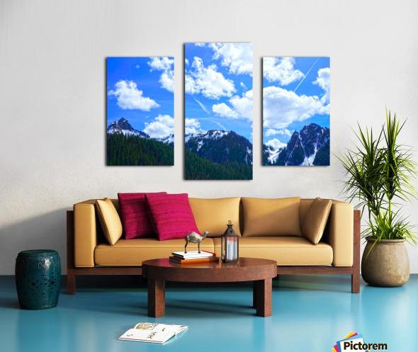 In the Cascade Mountains Canvas print