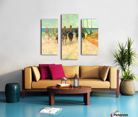 Riding on the Beach 2 by Gauguin Canvas print
