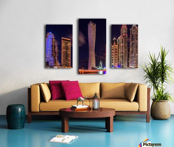 Dubai Marina Night Shot Canvas print