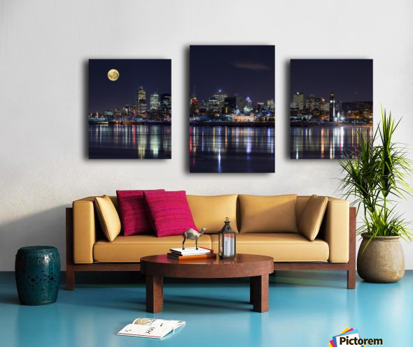 Montreal Night Canvas print