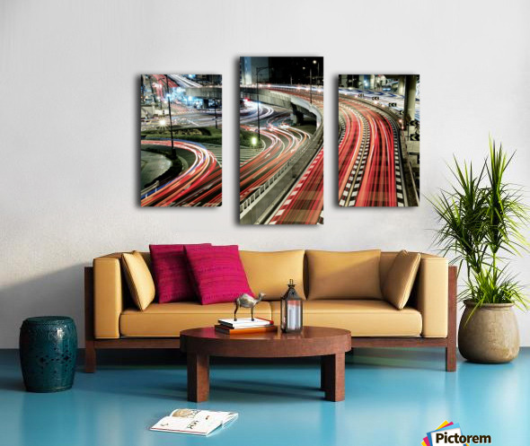 Chaotic Traffic Canvas print