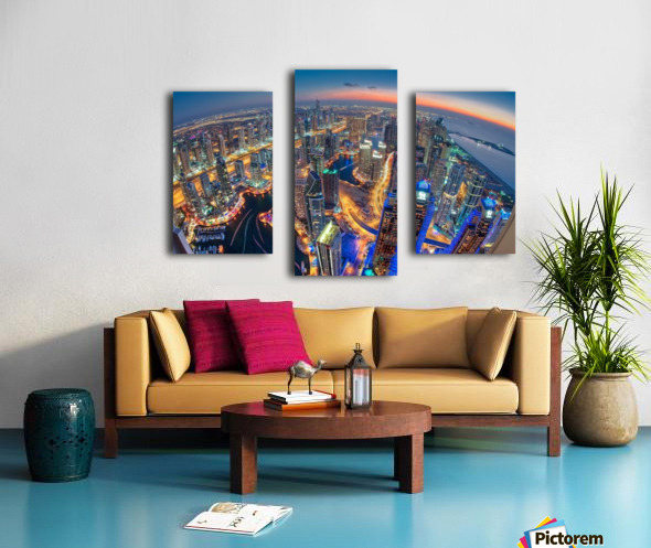 Dubai Colors of Night Canvas print