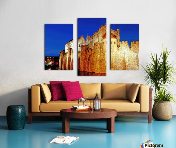Castle of the Counts Belgium Canvas print