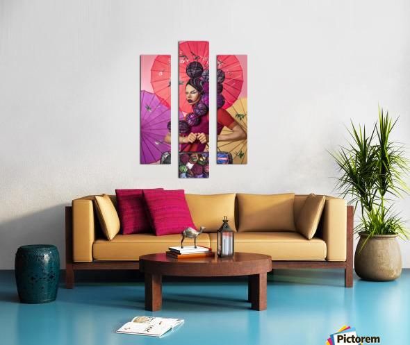 Knit I Canvas print