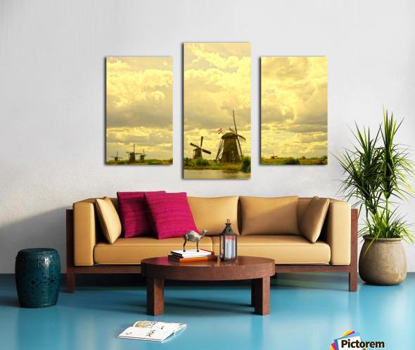 Windmills at Sunset - Netherlands Canvas print