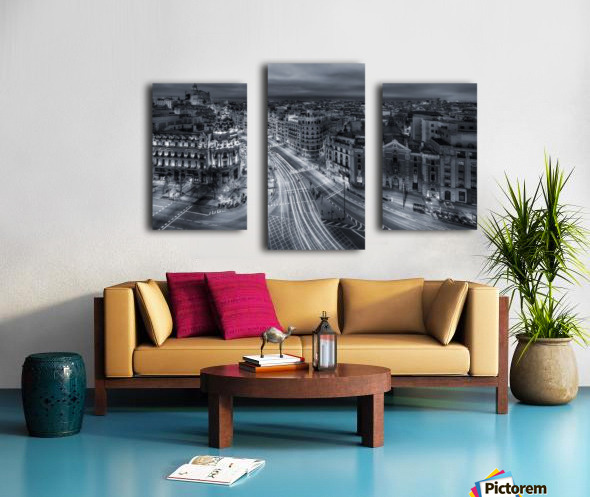 Madrid City Lights Canvas print