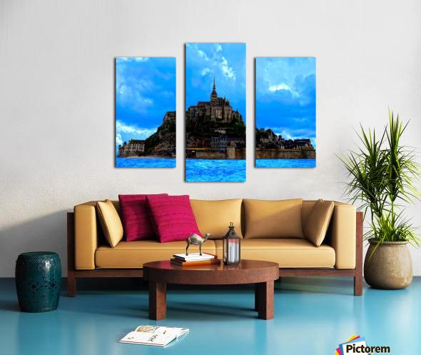 Mont St Michel Panorama Canvas print