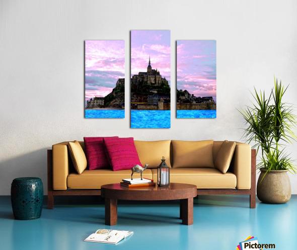 Mont St Michel at Sunset - France Canvas print