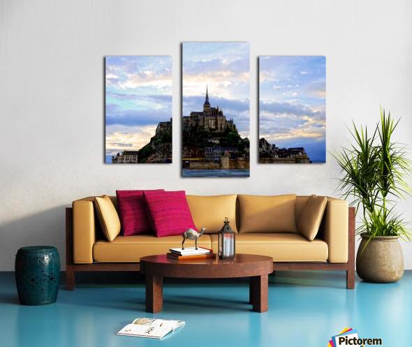 Mont St Michael Rising Tide - France Canvas print