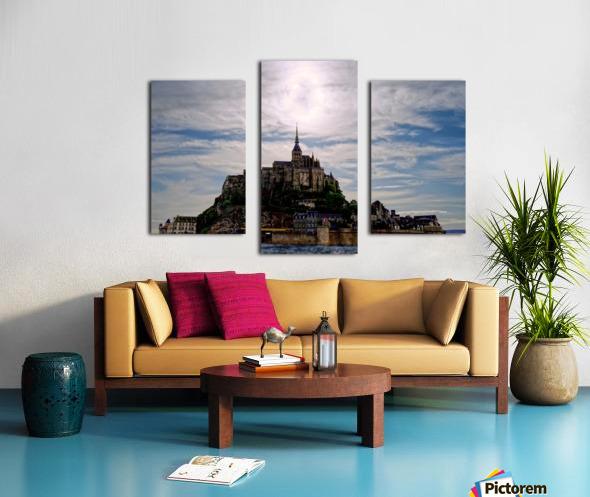 Mount Saint Michael The Fires of Heaven - Normandy France Canvas print