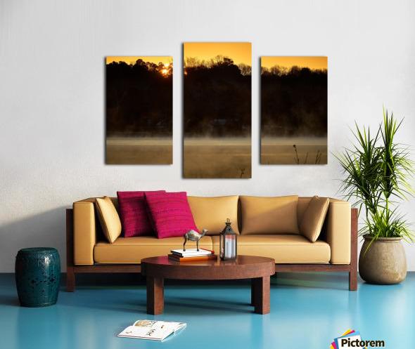 Sunrise at Langley Pond Park   Aiken SC 7R301610 12 19 20 Canvas print