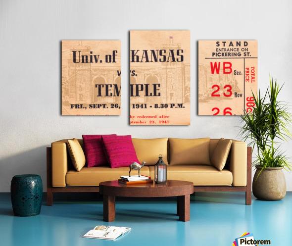 1941 Temple vs. Kansas Canvas print