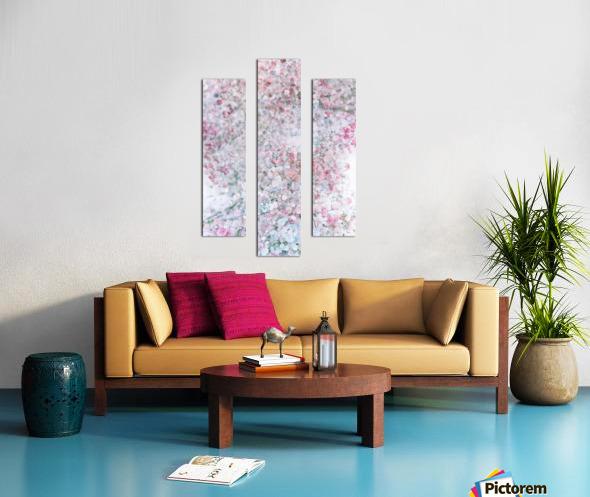 Daltana Pastel Floral Dianola Canvas print