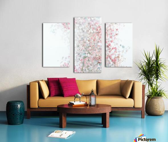 Daltana Pastel Floral Ceiala Canvas print