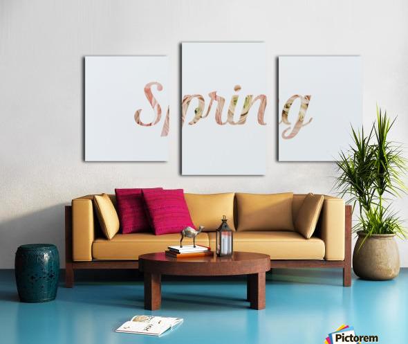 Daltana Spring Drill Canvas print