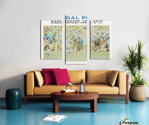 1969 UCLA vs. Washington Football Program Cover Art Canvas print