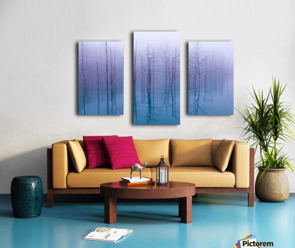 Misty Blue Pond Canvas print