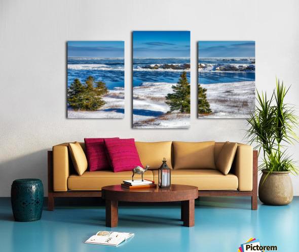 Pointe Saint-Pierre et lIle Plate Canvas print