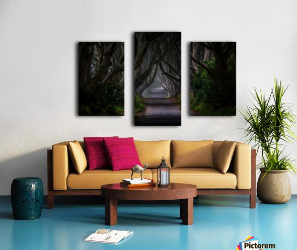 Magic road Canvas print