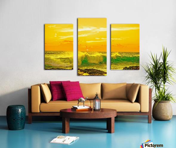 At the Sea Shore - Sunset Hawaiian Islands Canvas print