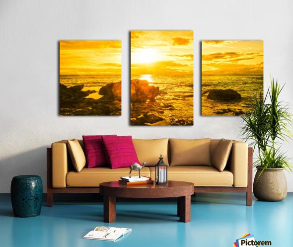 Majestic Sunset Panorama - Sunset Hawaiian Islands Canvas print