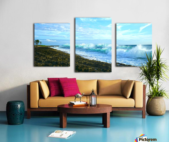 Blue Day Panorama Canvas print