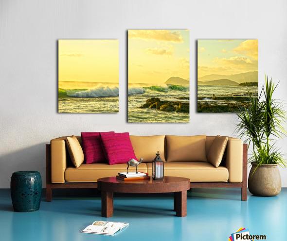 Perfect Day Panorama - Sunset Hawaiian Islands Canvas print