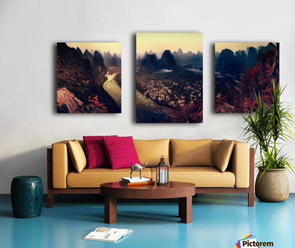The Karst Mountains of Guangxi Canvas print