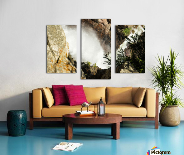 Rocky Mountain Rapids and Waterfalls 4 of 8 Canvas print