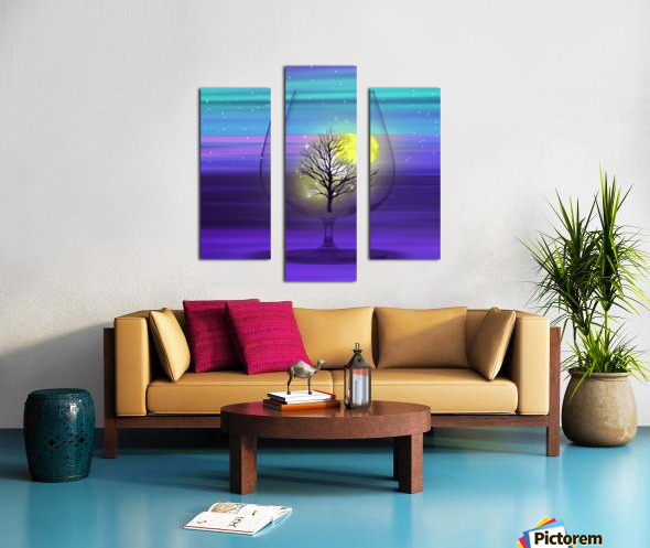 Landscape in a glass. Canvas print