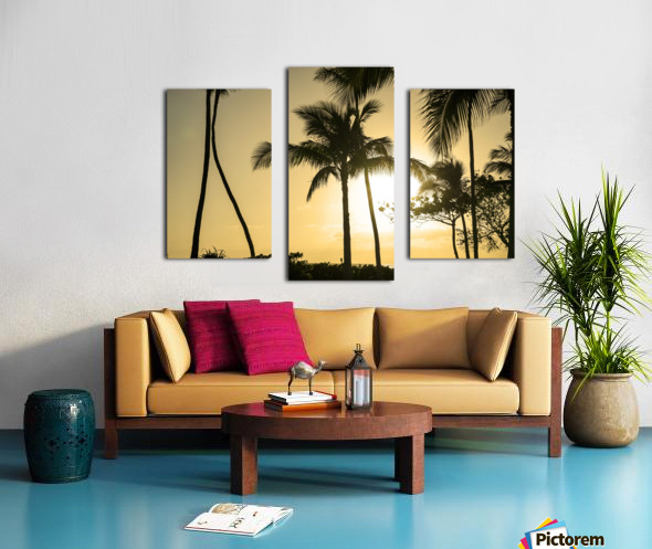 Through the Palms Canvas print