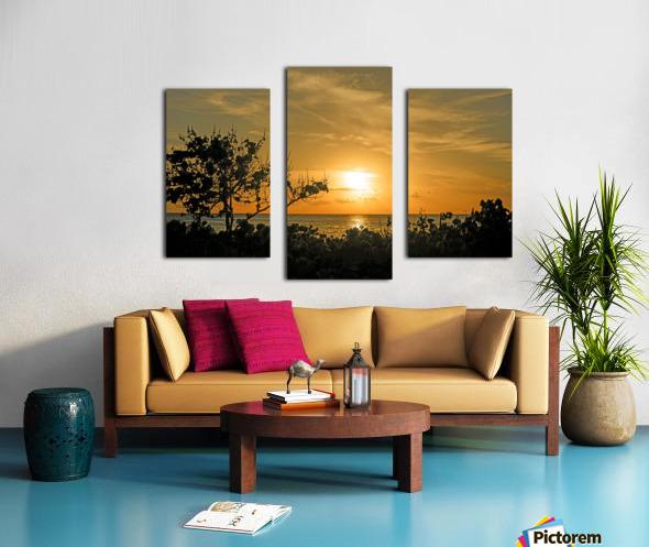 Delicate - Sunset Hawaiian Islands Canvas print