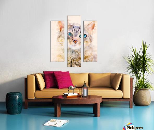 Dragon Li Hau cat Canvas print