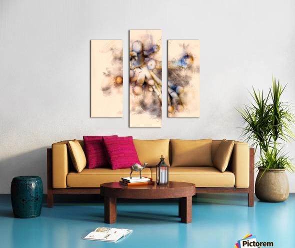 Tasty Mushroom Abstract Canvas print