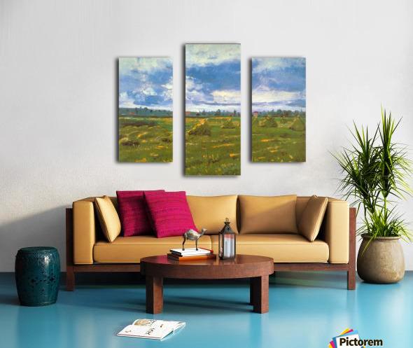 Stacks by Van Gogh Canvas print